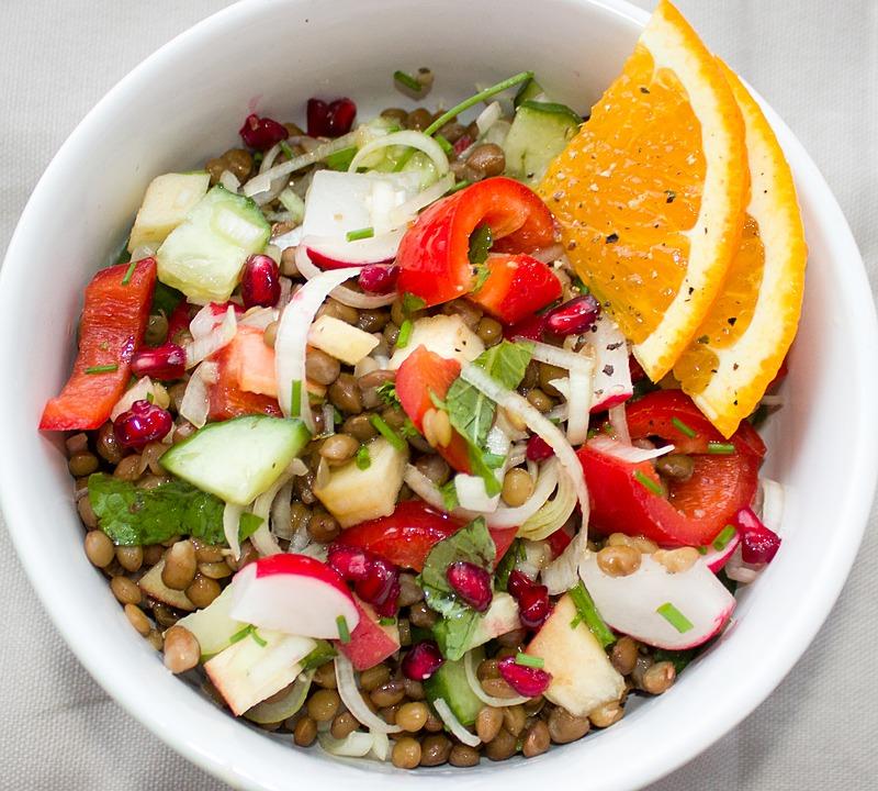 salade de lentilles estivale recette legumineuses production normandie circuit court eure