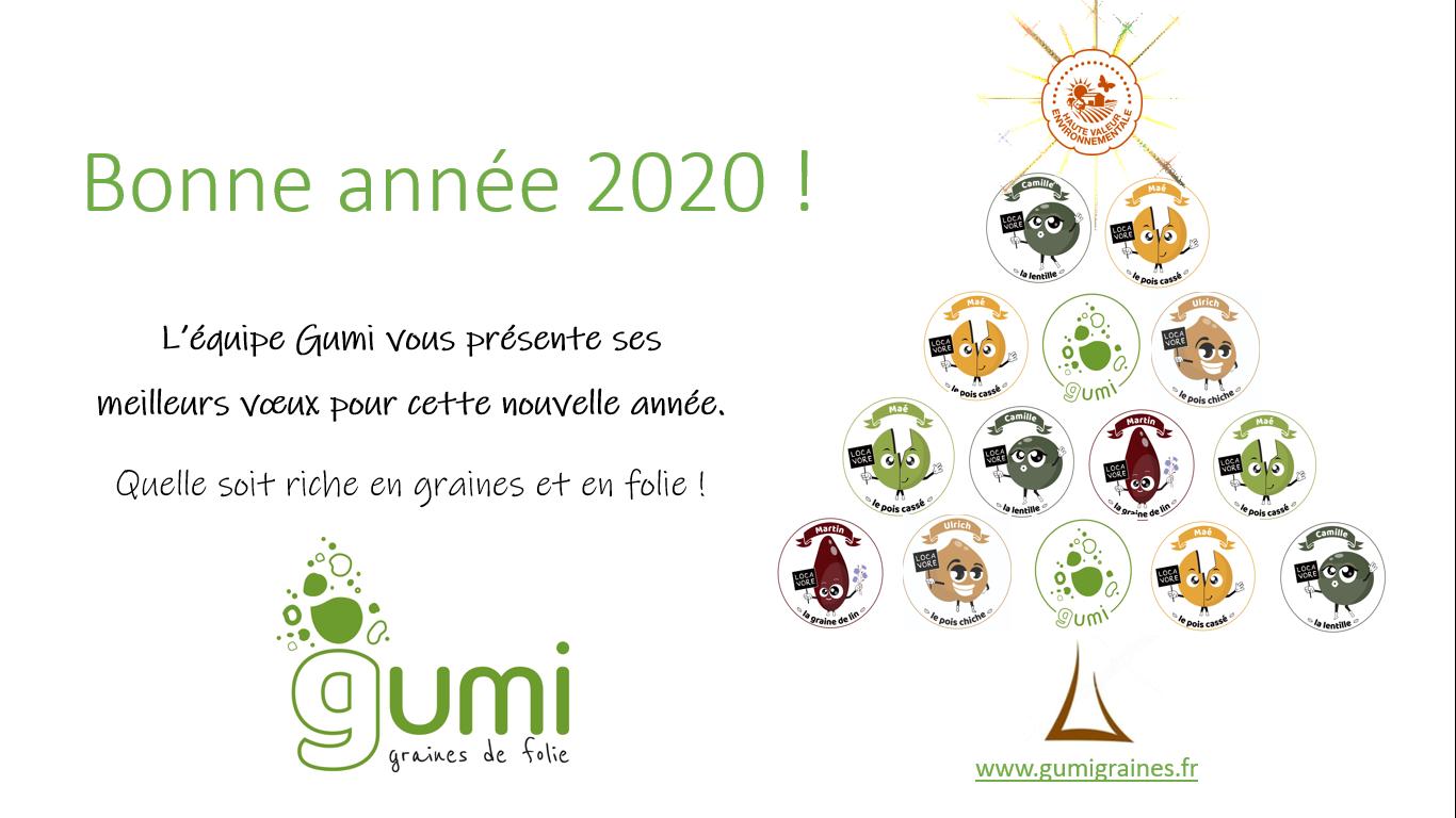 L'équipe Gumi vous présente ses meilleurs vœux pour cette nouvelle année. Quelle soit riche en graines et en folie !