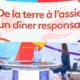 Camille, la lentille Gumi participe à un diner pour le climat. Reportage Télématin